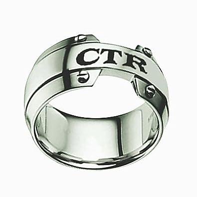 Sud - acero inoxidable 10 mm fantasma CTR elegir el derecho Anillo para niños - para hombre CTR Anillo, anillo de niños CTR: Amazon.es: Joyería