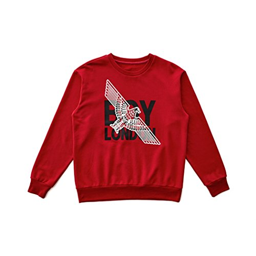 BOY London Unisex (S,M,L,XL) White Eagle Cross Printed Sweatshirt-Red New_(BG3TL012) (Red, Medium) by BOY London