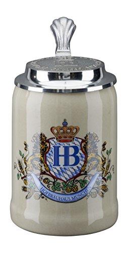 - HB Hofbräuhaus München German Beer Mug Munich Hofbräuhaus München HB mug 0.25 liter King Werk KI 1000058