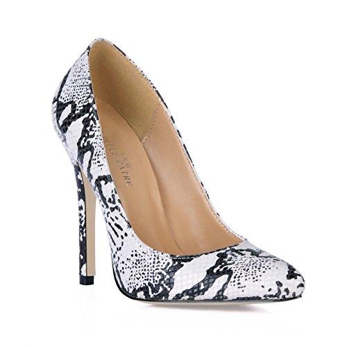Single für fein Frauen rot Frauen Schuhe Sinn Schuhe Schlange der punkt high und Veranstaltungsräume heel White Reformator fallen größere Haut 4P4zZqxr
