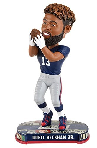 NFL Headline Bobble Head Odell Beckham Jr New York Giants Limited (Football Bobble Head)