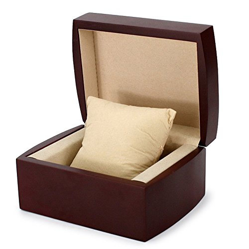 AVESON Luxury Watch Box Holder Organizer, Premium Wooden Jewelry Bracelet Storage Gift Case Single Grid by AVESON