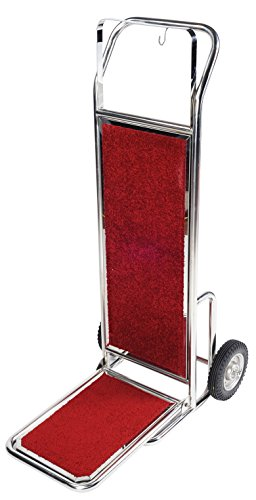 AMENITIES DEPOT Stainless Steel Bellman's Cart Heavy Duty Luggage Dolly Cart (Wheel Bellman Cart)