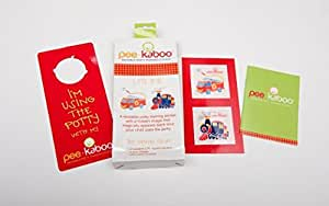 "Pee-kaboo Reusable Potty Training Sticker for Potty Chair - See an Image Magically Appear When They Pee, ""Let's Roll"""