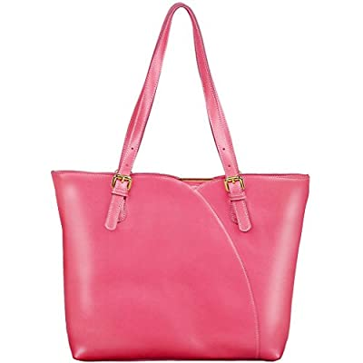 Yahoho Women's Simple Style Soft Genuine Leather Top Handle Tote Shoulder Bag