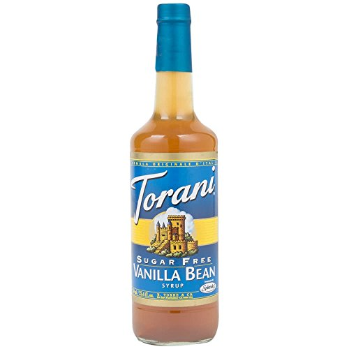 Torani Sugar Free Vanilla Bean Syrup 750mL (Pack of 3)