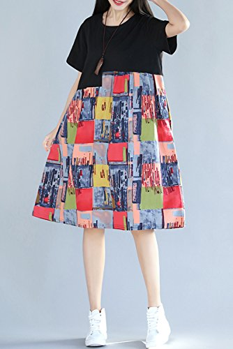 ELLAZHU - Vestido - para mujer GA701