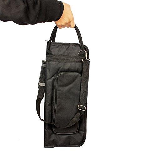 Andoer 600D Water-resistant Drum Sticks Gig Bag Oxford Cloth Handy Strap Gripped Handle Pocket 5mm Cotton Padded