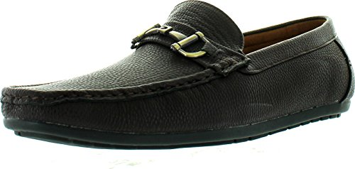 reverse Mens F41069 European Style Chain Casual Loafers Shoes Brown lNBZIT1