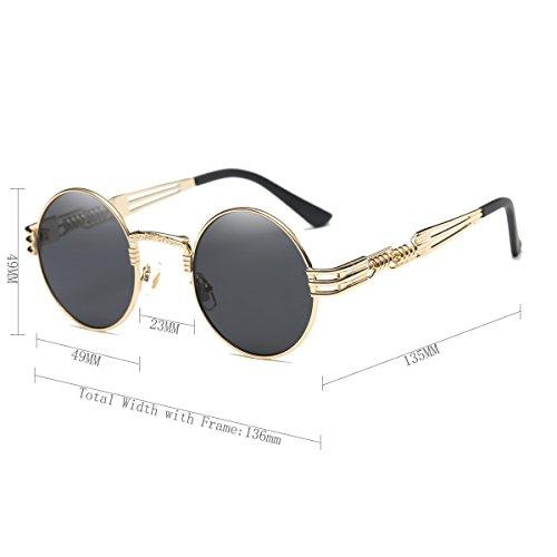 Dollger John Lennon Round Sunglasses Steampunk Metal ...