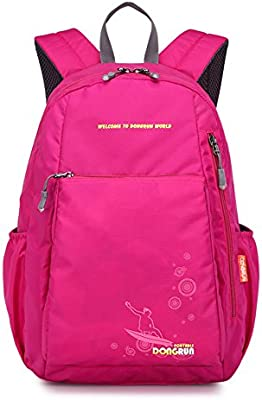 26bba77dc805 Primary School Backpack Ideal for 1-6 Grade School Students Boys Girls  Daily Use Casual Backpack Rose Red