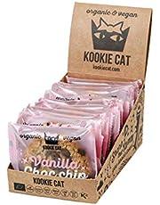 Kookie Cat Vanilla Choc Chip Individually Wrapped Vegan Cookies, gloed Free, Soy Free, Bio and Organic, Cashew & Oat, 12 x 50 g In A Box