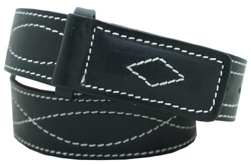 [Men's Mechanics Style Oiled & Waxed Leather Belt 1 1/2