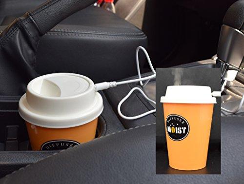 - UTRAX Car USB Ultrasonic Humidifier Aroma Essential Oil Diffuser Cab Air Freshener Purifier (Orange)