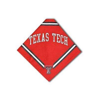 Collegiate Texas Tech Red Raiders Pet Bandana, Small - Dog Bandana must-have for Birthdays, Parties, Sports Games etc..