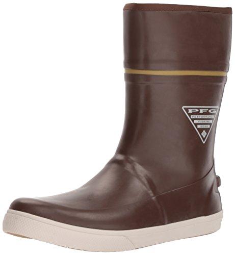 Columbia PFG Men's Dorado LITUP 10 PFG Rain Boot, Tobacco/Peppercorn, 7.5 Regular US