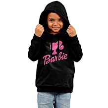 Toddler Barbie Famous Fashion Logo Design Fashion Hooded Sweatshirt