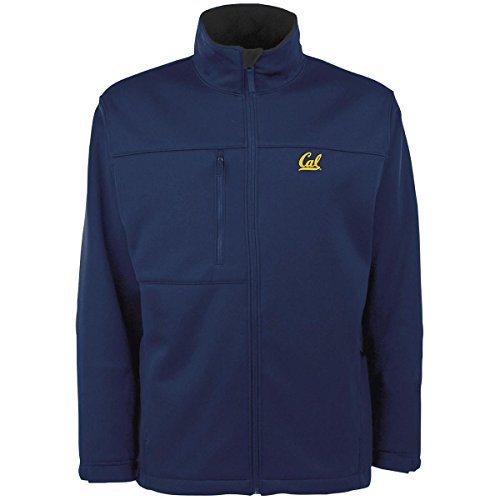Cal Golden Bears Mens Jacket - Antigua MEN'S CALIFORNIA GOLDEN BEARS TRAVERSE FLEECE BACK FULL-ZIP JACKET EXTRA LARGE