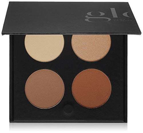 Glominerals Body Bronzer - Glo Skin Beauty Contour Kit - Medium to Dark, Contour Mineral Makeup Palette, 4 Colors, 2 Shades | Cruelty Free