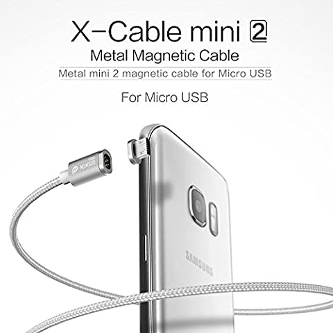 WSKEN Mini 2 Micro USB Magnetic Cable LED Display Sync and Fast Charger Cable for Android - 2 Micro Usb