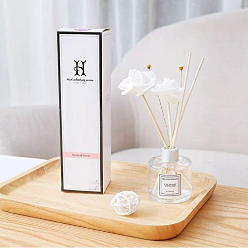 JHFUH Reed Oil Diffusers with Natural Sticks Glass Bottle Dragonfly Jasmine Lavender Ocean Osmanthus Hilton Lavender Gardenia Scented Oil Aromatherapy ()