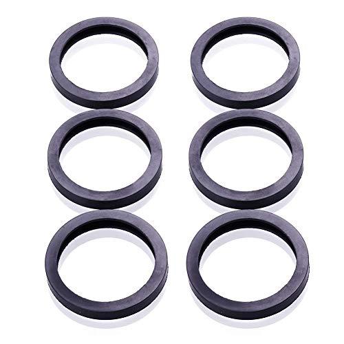 6 Gas Spout Gaskets Replacement Rubber Fuel Can Spout Seals for Universal Plastic 5 Gal 10 20L Fuel Tank Spout