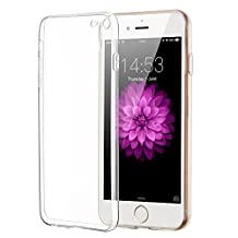 iPhone 6/6S Case, ELZO Transparent Crystal Clear Soft TPU Back Protector Cover Shock-Absorption Bumper and Anti-Scratch Slim Flexible Shell for Apple iPhone 6/6S