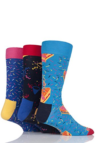 Mens and Ladies 4 Pair Happy Socks Bright Mix Combed Cotton Socks