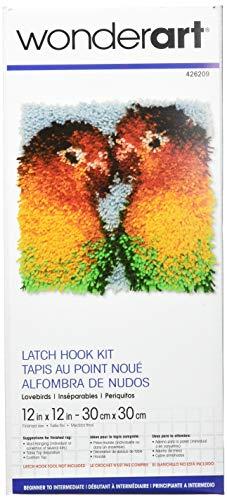 Wonderart Lovebirds Latch Hook Kit, 12