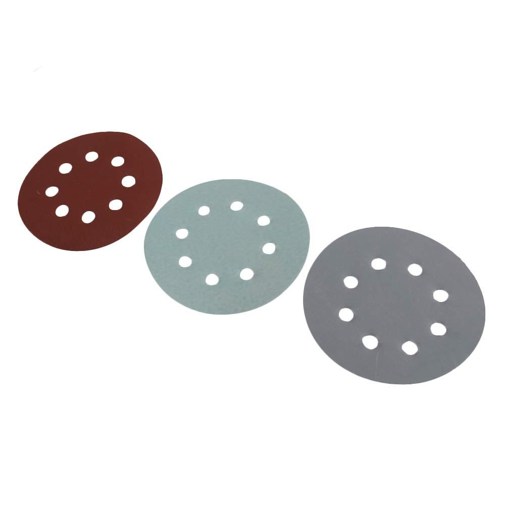 Mxfans 50pcs 5 8-Hole 1500//2000//3000//5000//7000 Grit Sanding Disc Sandpaper Kit