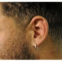 Hoop Earrings for Men - Sterling Silver Hoops - Classic Huggie Earrings for Cartilage - Modern Mens Jewelry - Mens Earrings - Mens Hoops - Sterling Silver Earrings for Men, mens jewelry