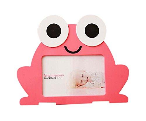 [해외]6 inch Creative Cartoon Cute Baby Photo Frame PINK Frog Models / 6 inch Creative Cartoon Cute Baby Photo Frame PINK Frog Models