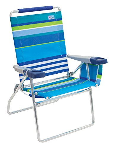 Rio Beach 17 Extended Height 4 Position Folding Beach Chair