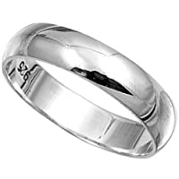 Sterling Silver Ring 6mm Band In Sizes G,H,I,J,K,L,M,N,O,P,Q,R,S,T,U,V,W,X,Y,Z