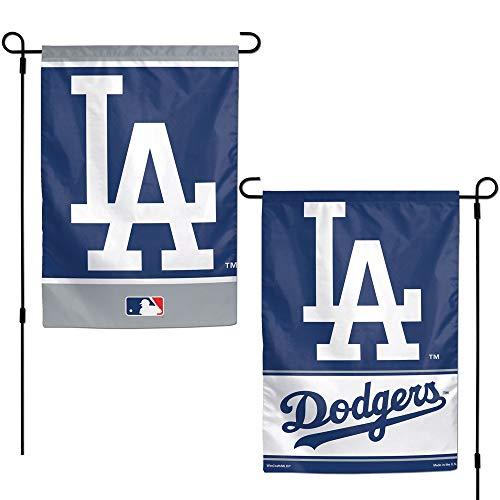 (WinCraft MLB Los Angeles Dodgers 12x18 Garden Style 2 Sided Flag, One Size, Team Color)