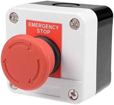 uxcell プッシュボタンスイッチ 押しボタンスイッチ 制御回路 400V 10A/6A ボタン直径40mm 高さ77mm