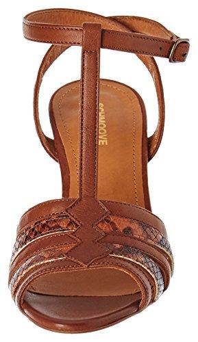 pour Schmoove ouvert sandales Marron Salome Cognac Castagna Odissey femmes bout à aggdq7rw