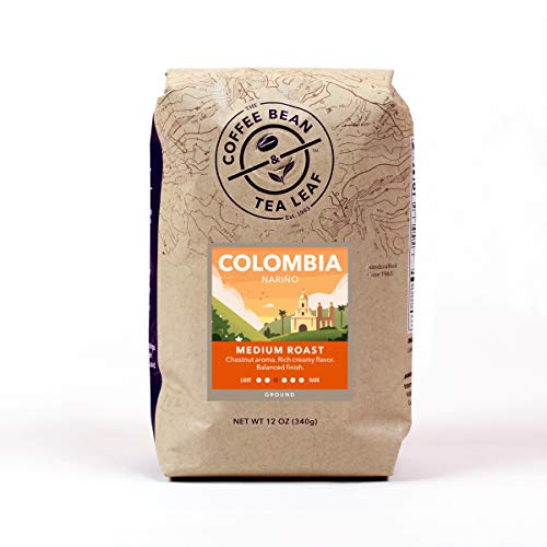(TheCoffee Bean & Tea Leaf, Hand-Roasted, Medium Roast, Colombia Ground Coffee, 12-Ounce Bags (Pack of 2) )