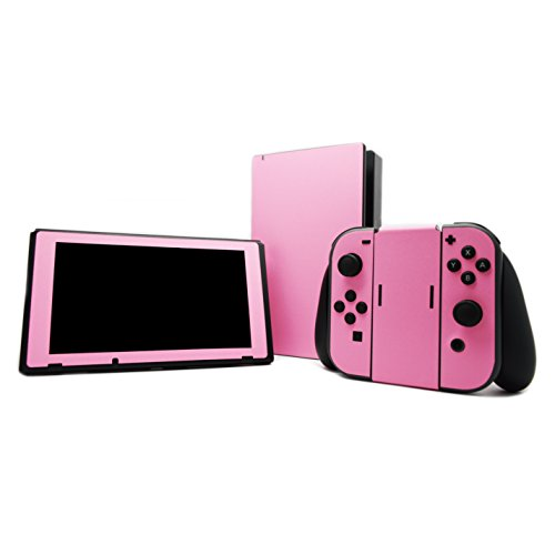 Sparkling Pink Fiber skin decal wrap skin Case for Nintendo Switch (Console Joy Con Switch Dock Joy-Con Grip)