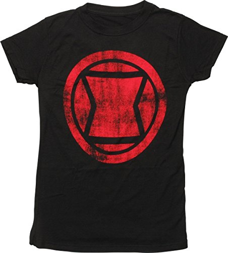 Black Widow - distressed icon T-Shirt Size L