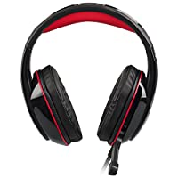 RedHoney XBOX S Gaming Headset GM2 3.5mm Stereo LED Headphone with Microphone and Y Splitter for PS4 Xbox One PC Laptop Smartphone Tablet (GM-3 Red) by redhoney