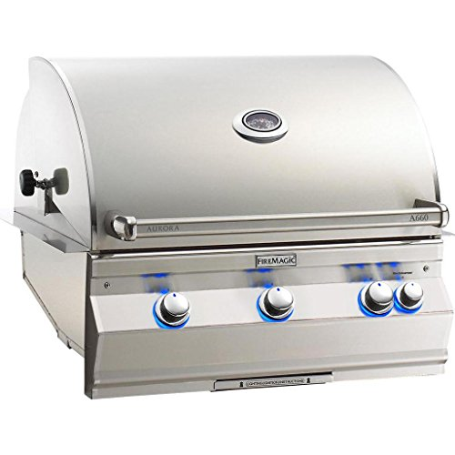 Fire Magic Aurora A660i 30-inch Built-in Propane Gas Grill With One Infrared Burner, Rotisserie And Analog Thermometer - A660i-6lap -