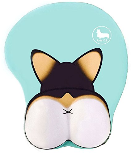 3D Funny Corgi Butt Shape Silicone Mouse Pad Mouse Mat- 8.6X10.2 Inch