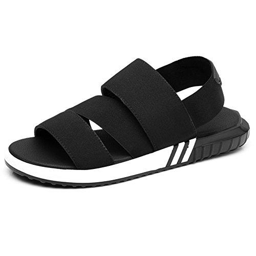 Sunrolan Menn Kvinner Unisex Par Tilfeldige Utendørs Vann Pustende Atletisk Sport Sandaler Sko Style3-svart