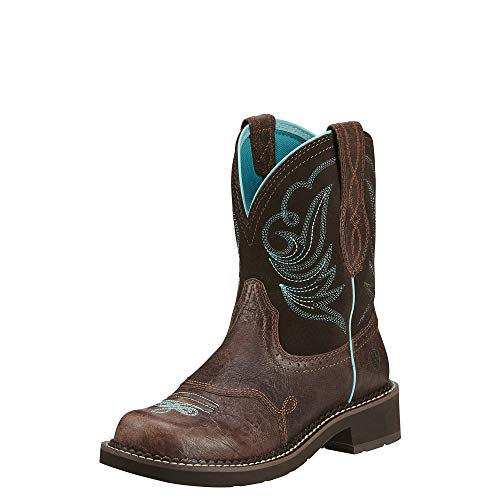 - ARIAT Women's Fatbaby Heritage Dapper Western Boot Royal Chocolate Size 6 C/Wide Us