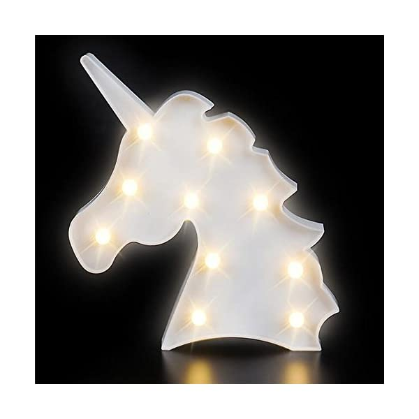Kicko Unicorn Night Light LED Lamp - 1 Piece - Battery Operated 9.75 Inch Light Box Marquee Signs - Ideal for Party… 3