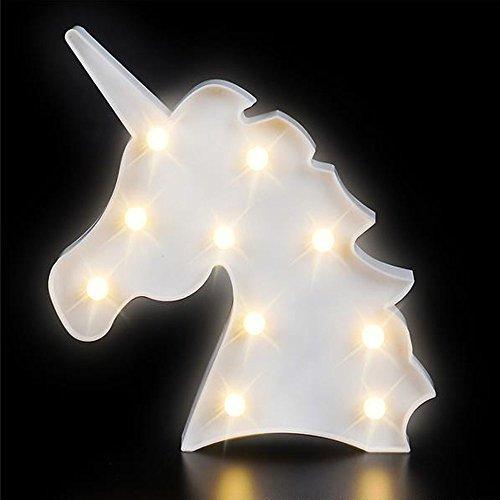 Toys Led Sign - Kidsco Unicorn Night Light LED Lamp - 1 Piece - Battery Operated 9.75