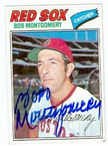 - Bob Montgomery autographed baseball card (Boston Red Sox) 1977 Topps #288 - Autographed Boxing Cards