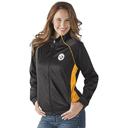 Licensed Sports Apparel Pittsburgh Football Steelers Women's Rhinestone Accents Steelers Track Jacket - 2XL
