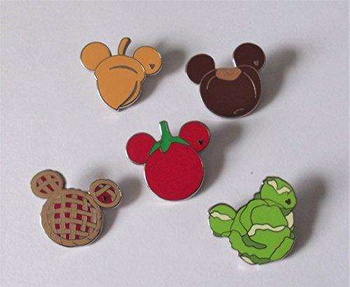 Disney Hidden Disney Pin - WDW Hidden Mickey Pin Series III, Mickey's fun food (Mystery Pouch), COMPLETE SET, PinPics # 69863
